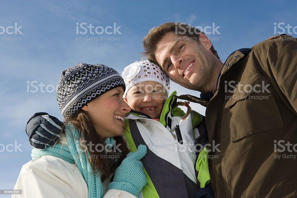 Portrait of a family royalty free stockfoto