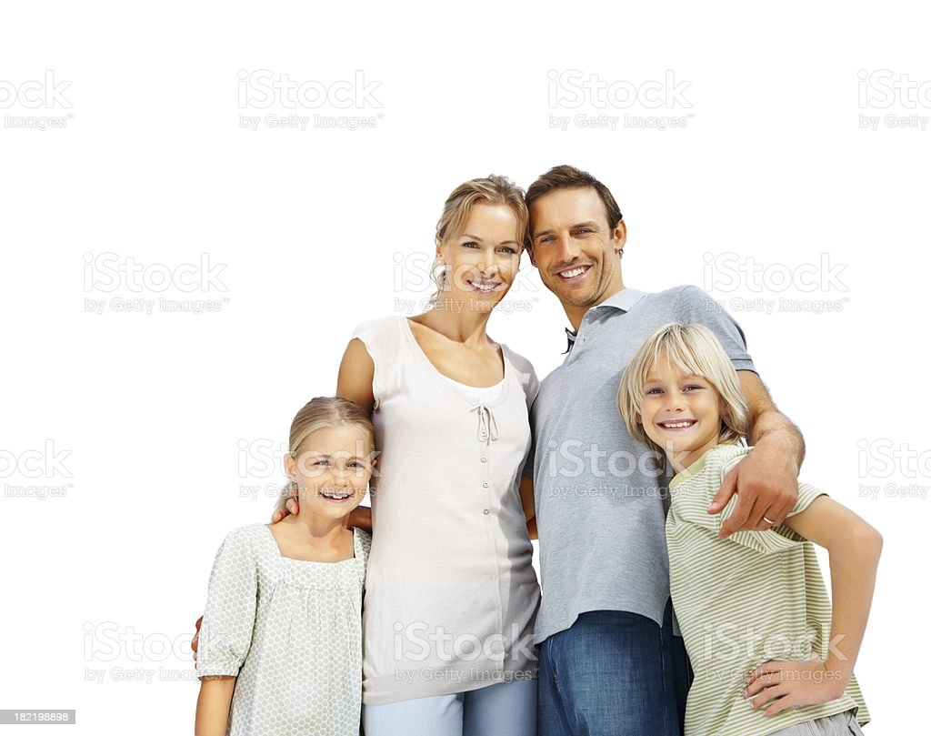 Portrait of a family standing together royalty-free stock photo