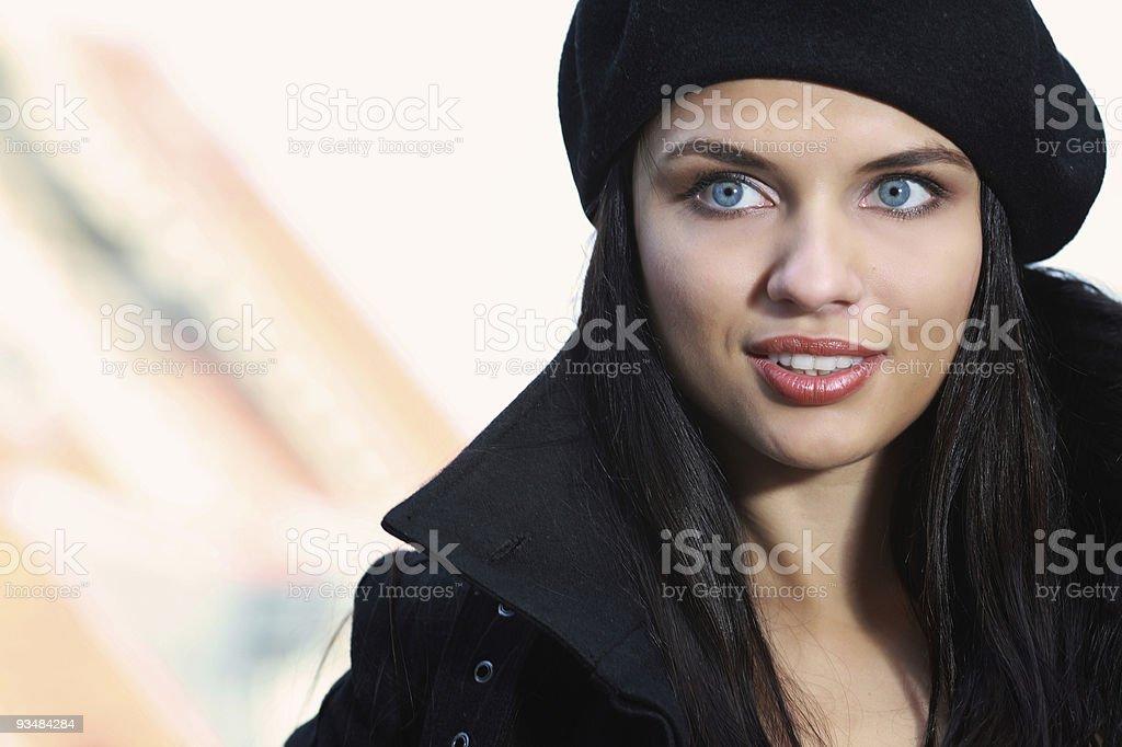 패션 여성 인물 사진, 거리 사진학 파리 - 로열티 프리 귀여운 스톡 사진
