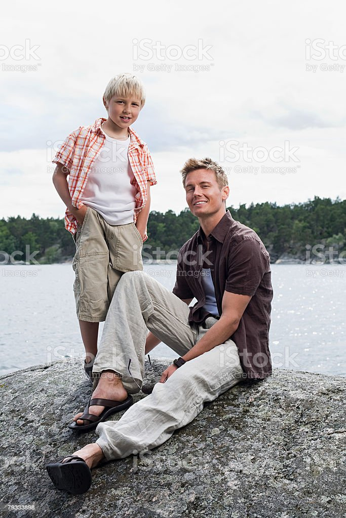 Portrait of a father and son 免版稅 stock photo