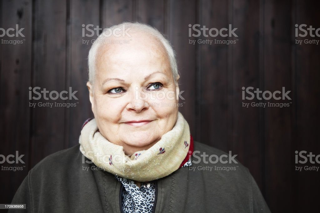 portrait of a female cancer patient stock photo