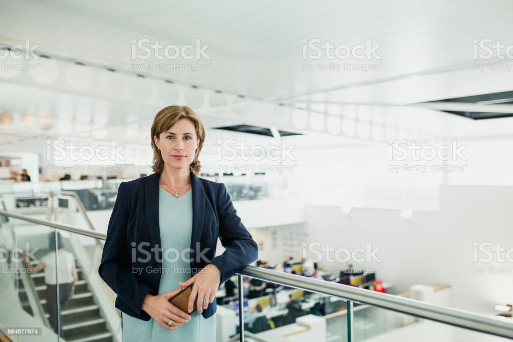 Portrait of a Female CEO stock photo