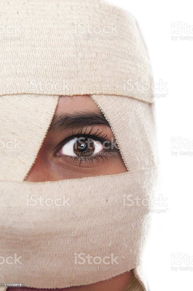 Portrait of a female having  plastic surgery royalty-free stock photo