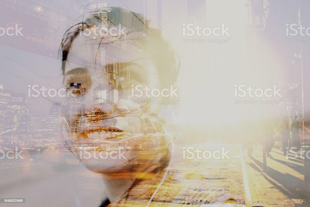 Porträt eines weiblichen Reisenden – Foto