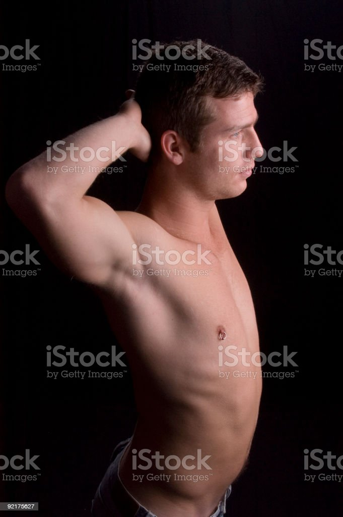 Portrait of a fit man stock photo