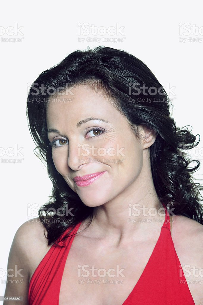 portrait of a forty years old woman royalty-free stock photo