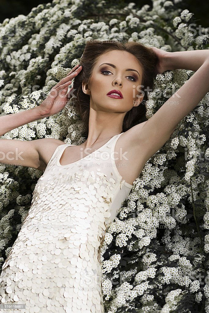 Portrait of a fresh and lovely young woman royalty-free stock photo