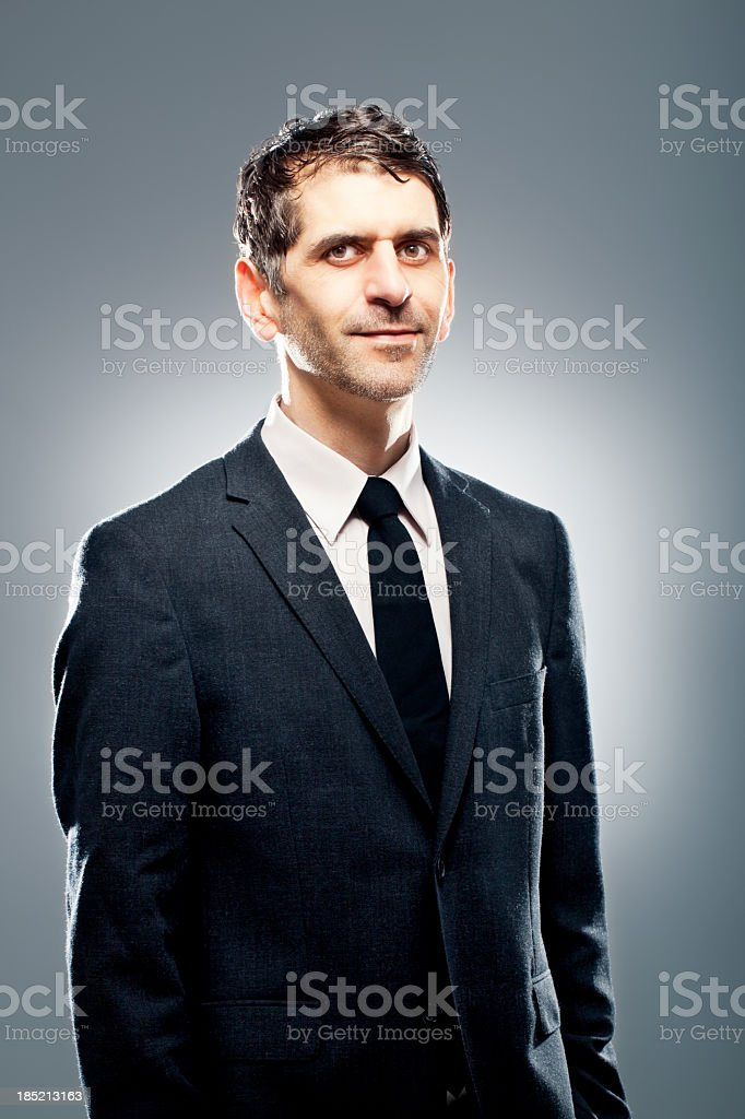 Portrait of a friendly business man royalty-free stock photo