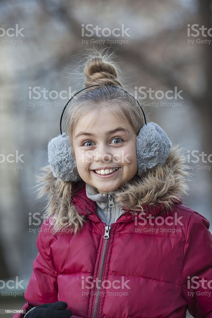 Portrait of a funny little girl royalty-free stock photo