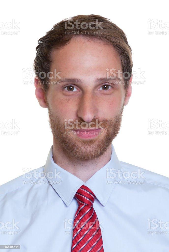 Portrait of a german businessman with beard stock photo