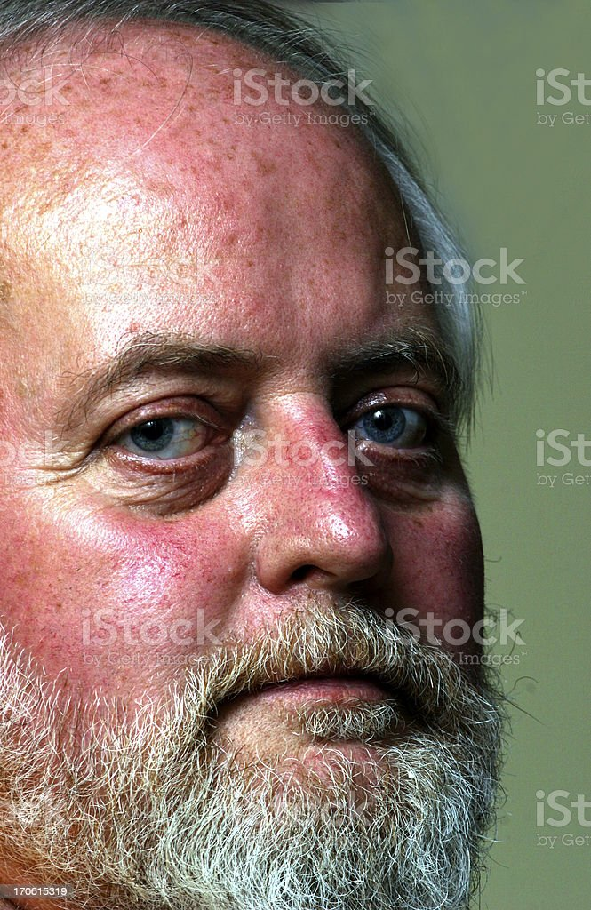Portrait of a GI Vet Shadow effect on side of face intended. Adult Stock Photo