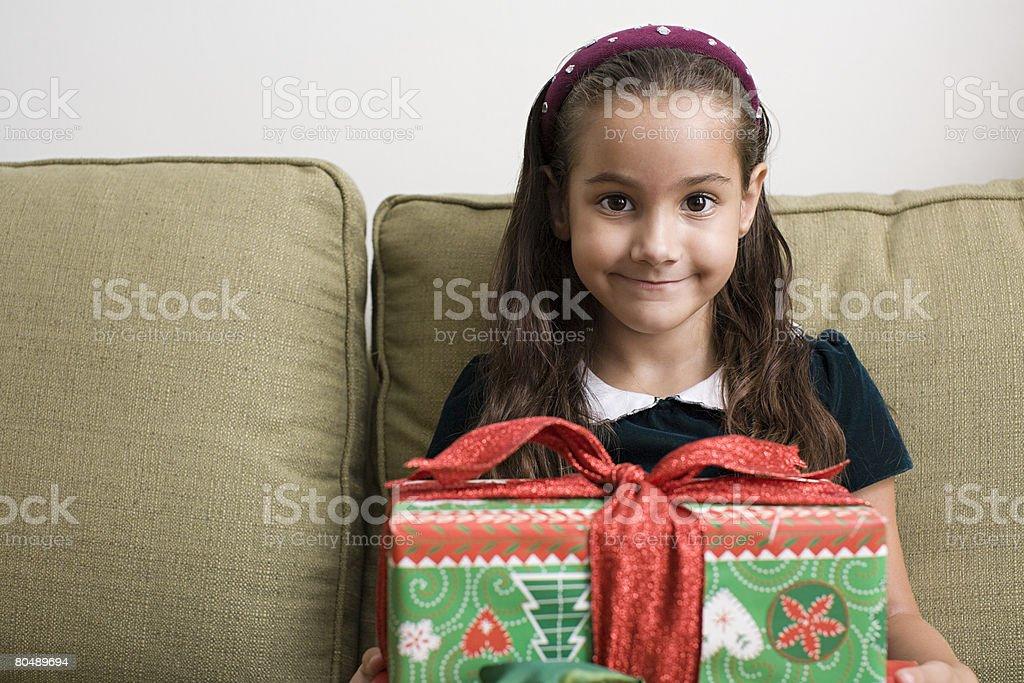 少女のポートレートを、ギフト ロイヤリティフリーストックフォト