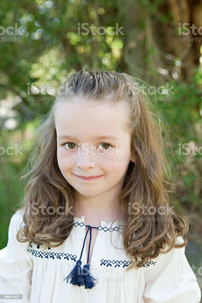 Portrait of a girl outdoors royalty-free stock photo