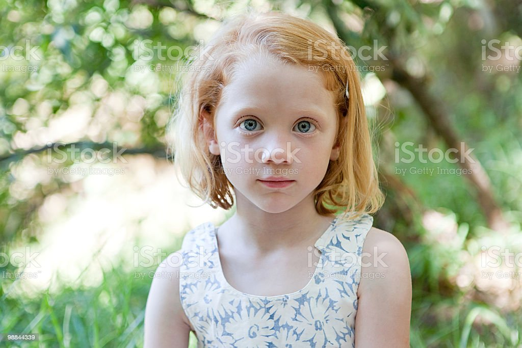 Portrait of a girl outdoors foto de stock libre de derechos