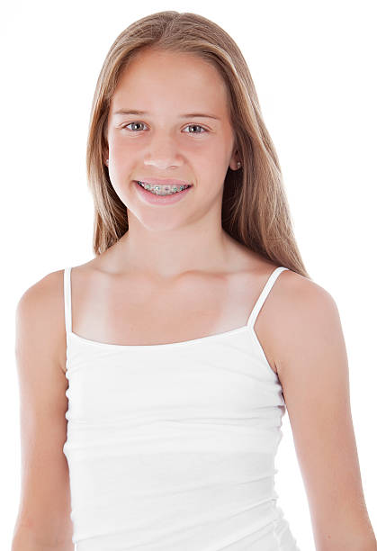 Portrait of a girl  spaghetti straps stock pictures, royalty-free photos & images