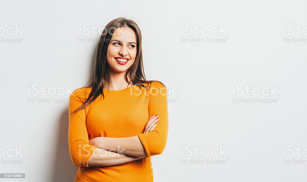 Retrato de una chica - foto de stock