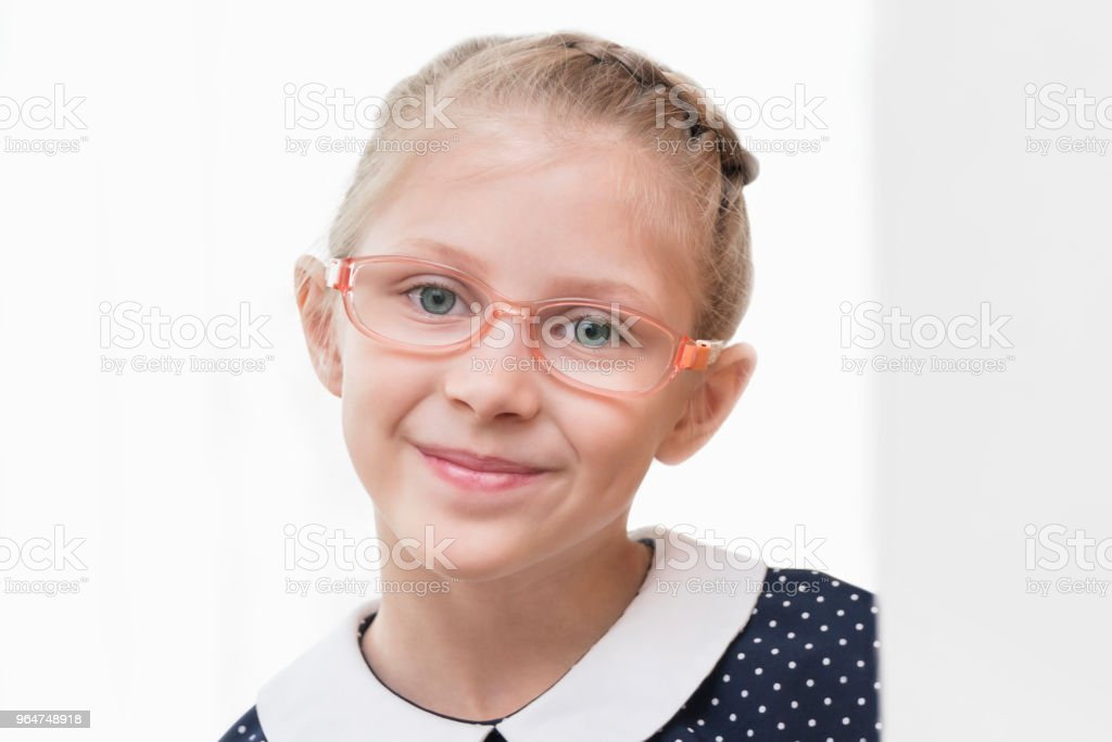 Portrait of a girl wearing glasses royalty-free stock photo