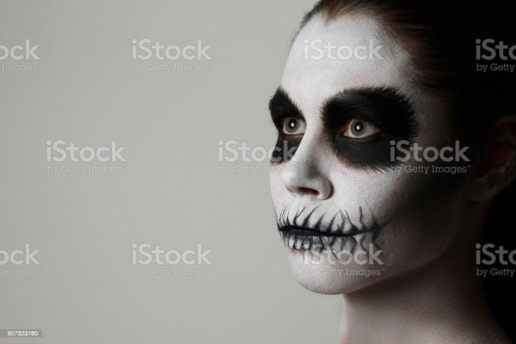 Portrat Eines Madchens Mit Makeup Kunst Am Korper Gesichtkunst