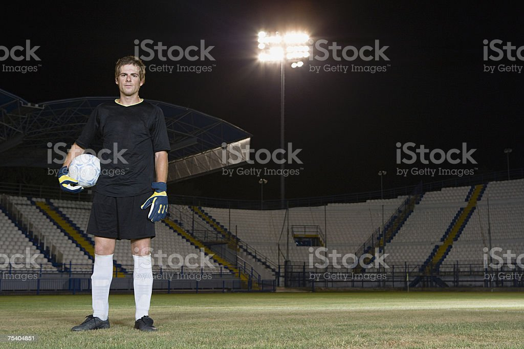 Portrait of a goalkeeper foto de stock royalty-free