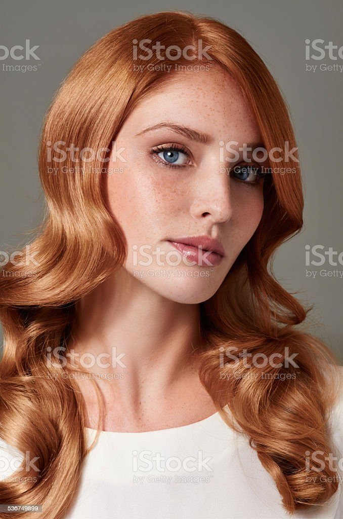 She's a red hot redhead stock photo