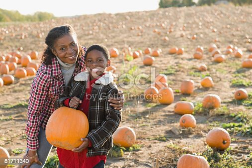 81711567 istock photo Portrait of a grandmother and grandson 81711340