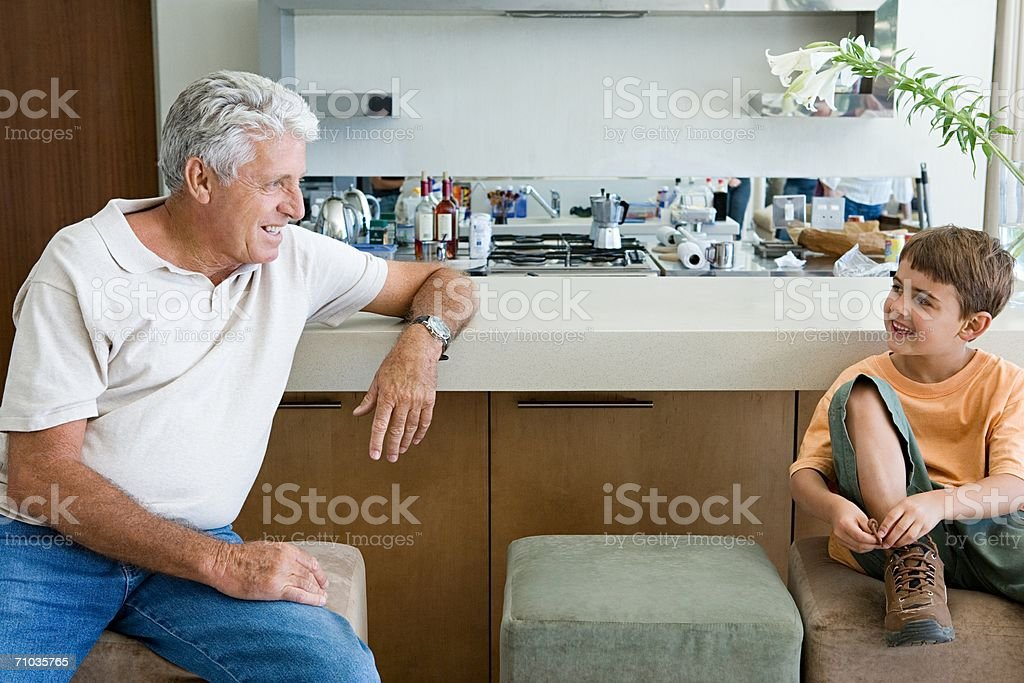 Portrait of a grandparent and grandchild royalty-free stock photo