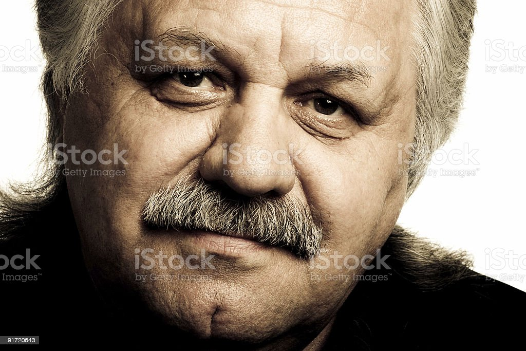portrait of a grey-haired men royalty-free stock photo