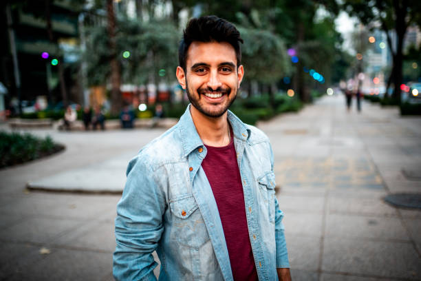 Portrait of a handsome Indian man. Portrait of a handsome Latin man looking at the camera 30 39 years stock pictures, royalty-free photos & images