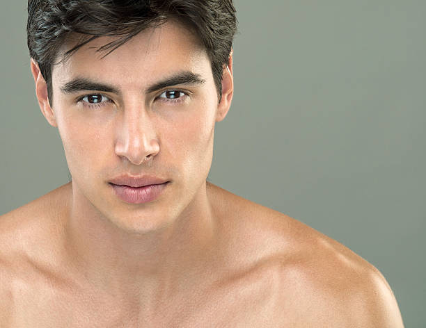 portrait of a handsome man  shirtless male models stock pictures, royalty-free photos & images