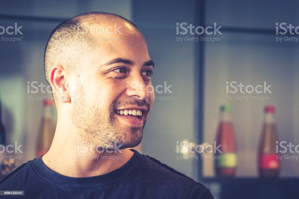Portrait of a handsome Maori businessman in the workplace. royalty-free stock photo
