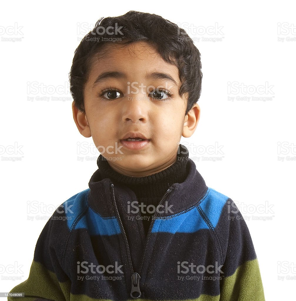 Portrait of a Handsome Toddler royalty-free stock photo