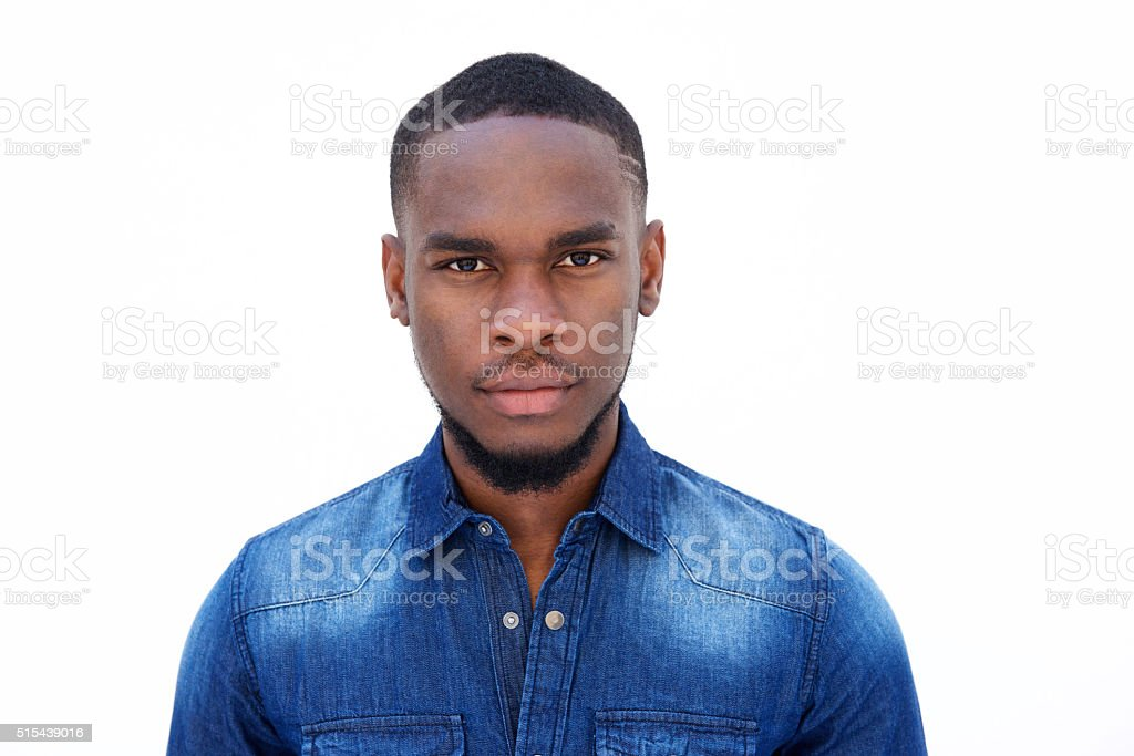 Portrait of a handsome young african american man stock photo