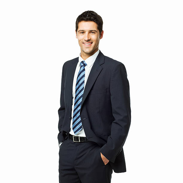 Portrait of a Handsome Young Businessman - Isolated stock photo