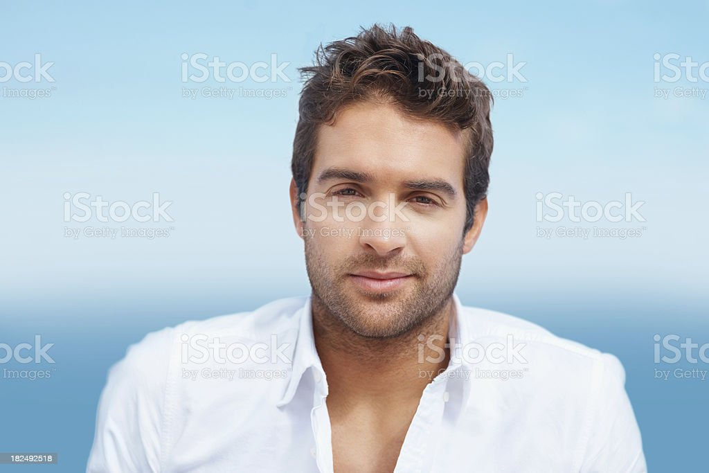 Portrait of a handsome young guy royalty-free stock photo