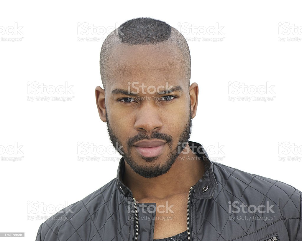 Portrait of a handsome young man isolated on white stock photo