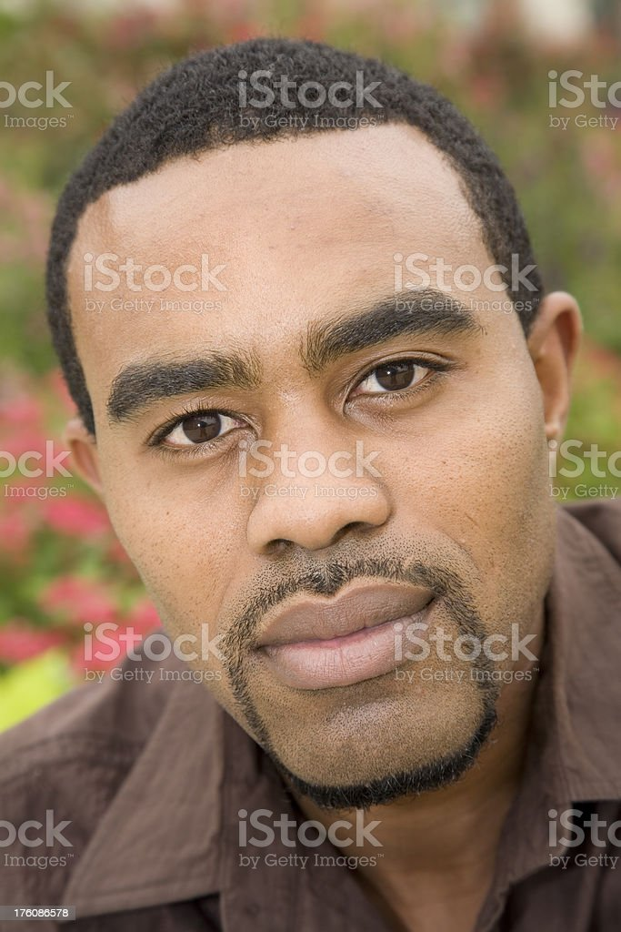 Portrait of a Handsome Young Man royalty-free stock photo