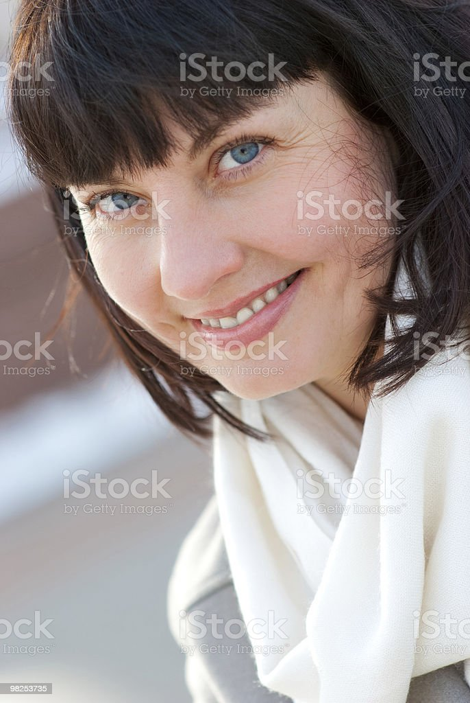 Portrait of a happy aged woman royalty-free stock photo
