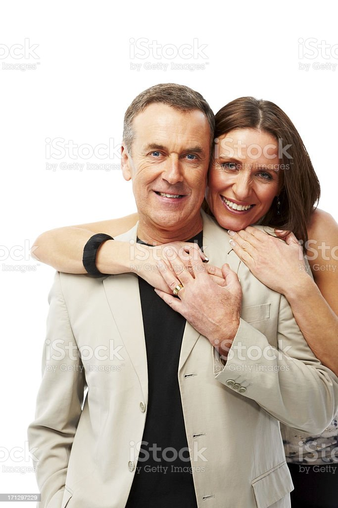 Portrait of a happy couple embracing each other stock photo