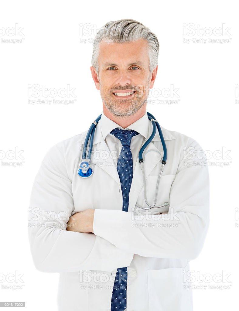 Portrait of a happy doctor – Foto