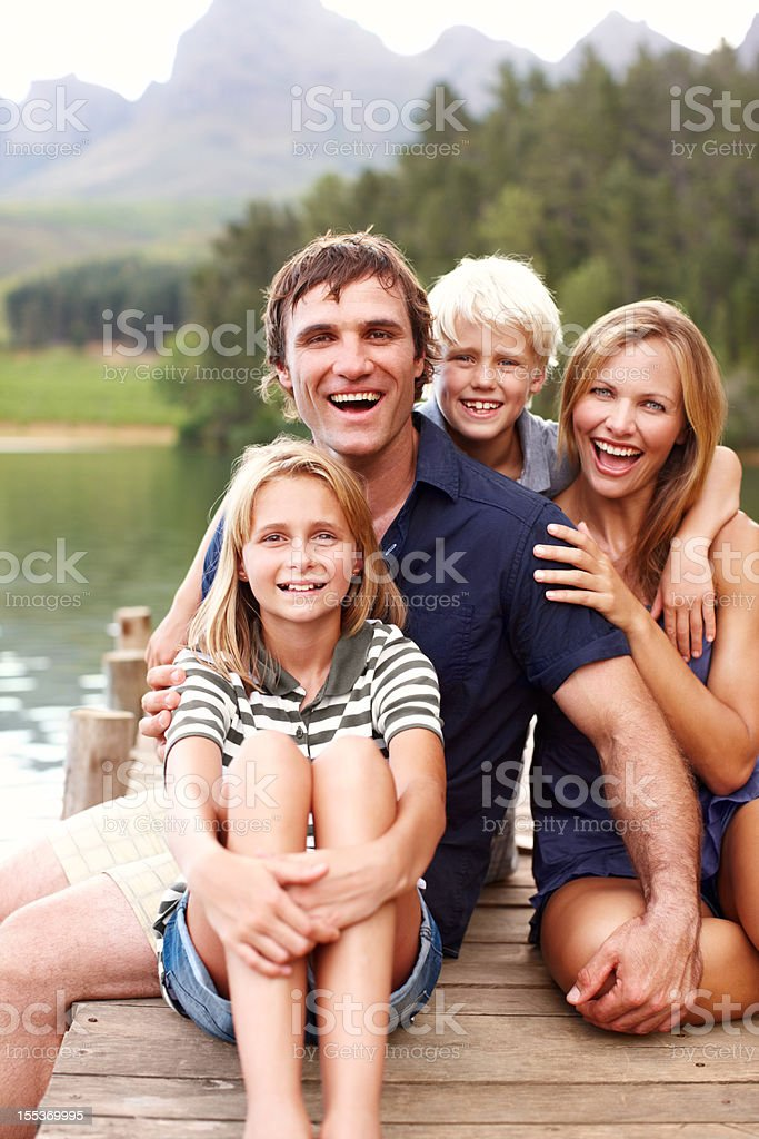 Portrait of a happy family royalty-free stock photo