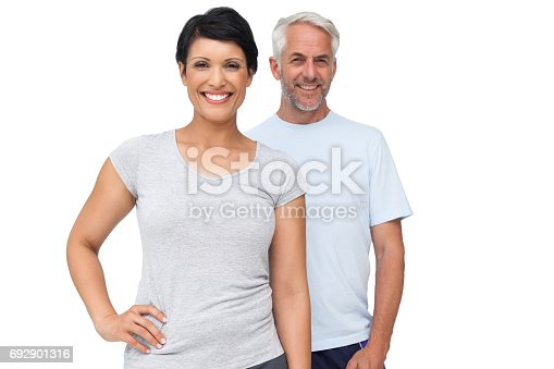 istock Portrait of a happy fit couple 692901316