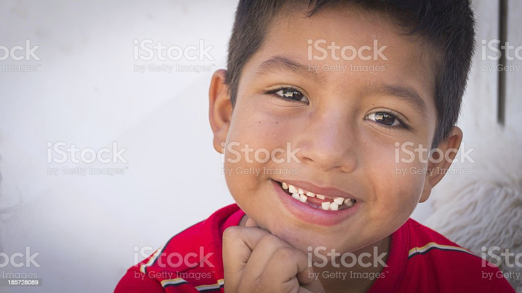 Portrait of a happy kid stock photo