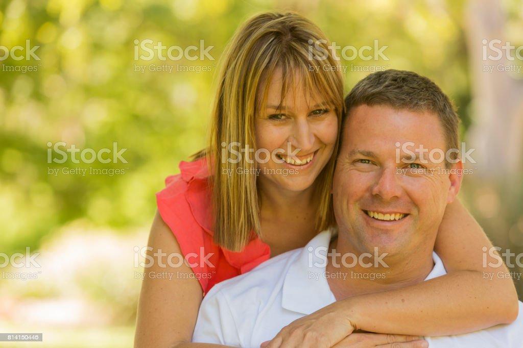 Portrait of a Happy Mature Couple stock photo