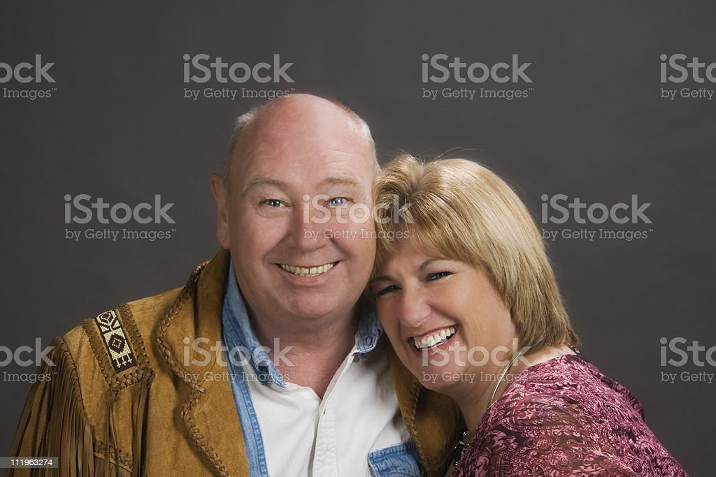 Portrait of a happy middle aged couple royalty-free stock photo