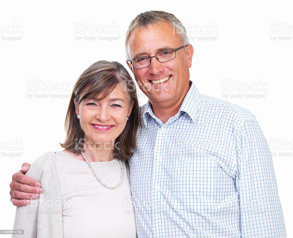 Portrait of a happy old couple royalty-free stock photo