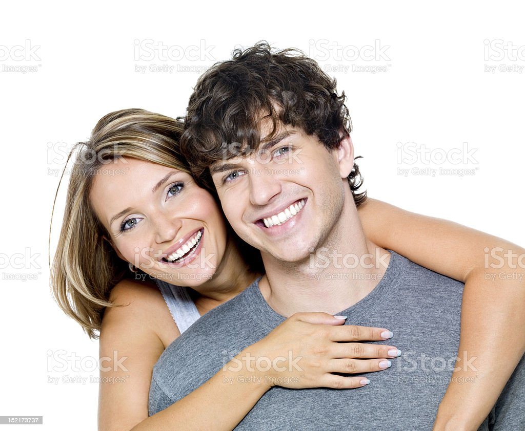 Portrait of a happy people stock photo