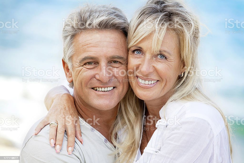 Portrait of a happy romantic couple royalty-free stock photo