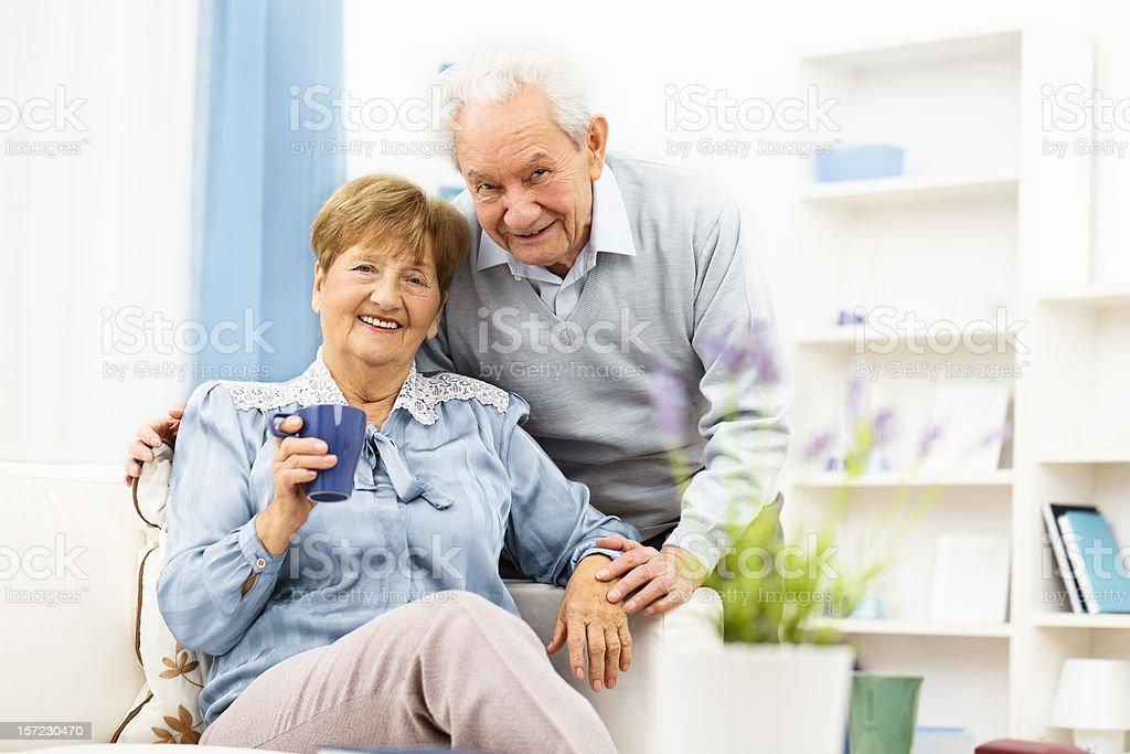 Portrait of a happy senior couple royalty-free stock photo