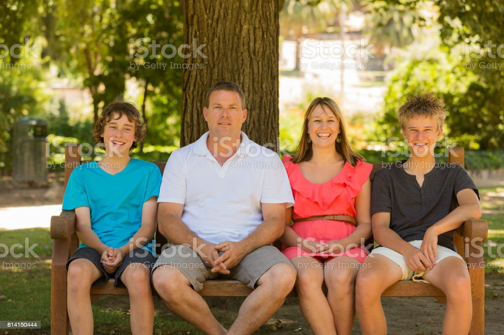 Portrait of a Happy Smiling Family stock photo