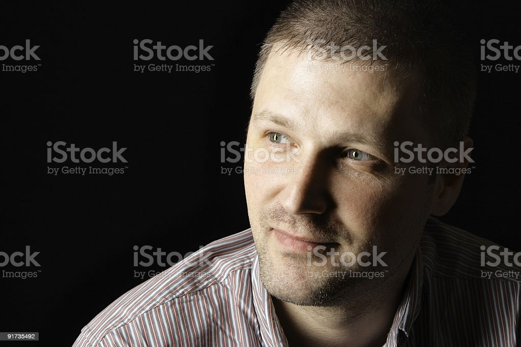 Portrait of a happy smiling man royalty-free stock photo